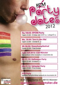 Zumindest Grund zum Feiern sieht man noch beim KCM: fröhlicher Party-Flyer 2012