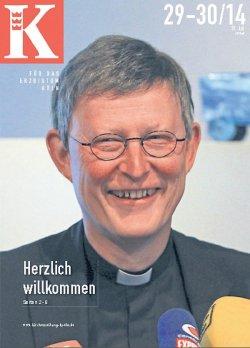 """Der Herausgeber fungierte im vergangenen Jahr auch als Coverboy der """"Kirchenzeitung"""""""