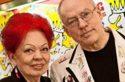 Zwei verdiente Koryph�en der Community: Laura Halding-Hoppenheit mit Regisseur Rosa von Praunheim