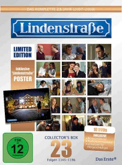 "MORE Entertainment hat den 23. Jahrgang der Kult-TV-Serie ""Lindenstra�e"" in einer 10er-DVD-Box samt exklusivem Bonusmaterial ver�ffentlicht."