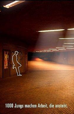 Dein Stricher, das unbekannte Wesen: Sequenz aus einer animierten Grafik auf der Homepage von Looks e.V. aus Köln
