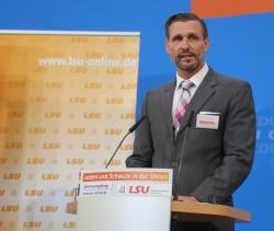 Alexander Vogt im Oktober beim LSU-Jahresteffen im Konrad-Adenauer-Haus - Quelle: nb