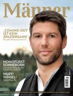 """Auf dem Cover der Februar-Ausgabe von """"M�nner"""" strahlt Thomas Hitzlsperger"""