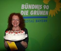 Bayerns Gr�nen-Fraktionschefin Margarete Bause wurde in Rosenheim zur Spitzenkandidatin gek�rt. Gut zu wissen: Sie liebt Torten - Quelle: Gr�neFraktionBayern / flickr / cc by 2.0