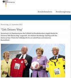 """Der offizielle Bericht der Bundesregierung zur """"Geh deinen Weg""""-Kampagne benennt das Thema Integration, aber nicht die �u�erungen Merkels zu schwulen Fu�ballern"""