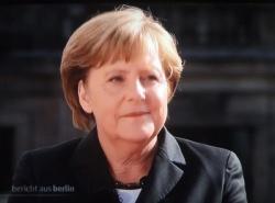 Angela Merkel beim ARD-Interview