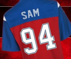 Auf der Homepage der Montreal Alouettes kann man bereits Michael Sams Jersey mit der R�ckennummer 94 bestellen � sein erster Trainingstag ist jedoch erst am Mittwoch