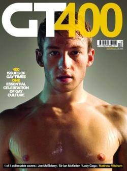 """Mitcham als Coverboy im britischen Magazin """"Gay Times"""""""
