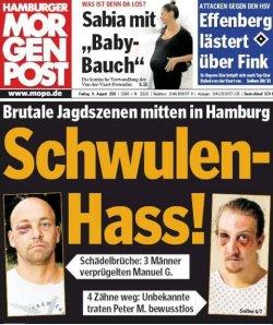 """Titelseite der Boulevardzeitung """"Hamburger Morgenpost"""""""