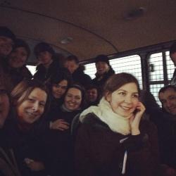 Die Aktivisten nach ihrer Verhaftung im Polizei-Mannschaftsbus - Quelle: Elena Kostyuchenko