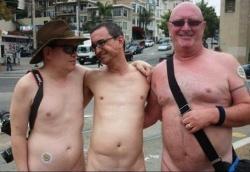 Only in San Francisco: Drei Nackedeis in der �ffentlichkeit