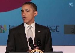 Obama spricht per iPhone-App und Youtube zu uns - Quelle: Screenshot iTunes U-Mappe CSIS