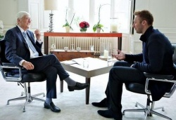 Ian Thorpe (re.) im Gespr�ch mit Michael Parkinson - Quelle: Channel 10