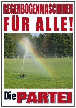 """Werbeplakat von """"Die Partei"""" in Deutschland"""