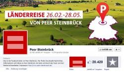 Peer Steinbr�ck zeigt seinen �ber 20.000 Facebook-Fans, dass er die Ehe f�r Lesben und Schwule �ffnen will