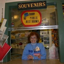 So etwas wie das Maskottchen der Duquesne-Schienenseilbahn: Margarete Sommerer