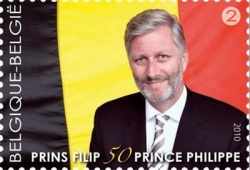 Zum 50. Geburtstag bekam Prinz Philippe eine Briefmarke geschenkt - Quelle: