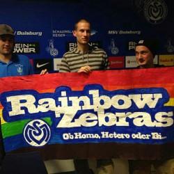 Die RainbowZebras sind der schwul-lesbische Fanclub des MSV Duisburg