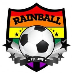 Logo von Rainball Tel Aviv: Der vor zwei Jahren gegr�ndete Fu�ballclub hat 45 Mitglieder