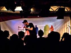 Rap ohne Diskriminierung: Zum Abschluss von Workshop und Vortrag gaben Refpolk und Sookee ein Konzert