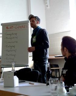 Refpolk und Sookee beim Workshop in M�nster - Quelle: Caroline Frank