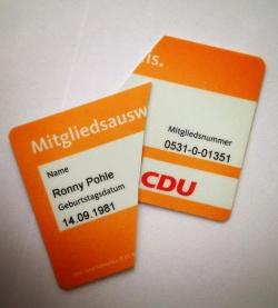 """Ronny Pohle kann nicht mehr """"ruhigen Gewissens auf die Straße gehen und für die CDU werben"""" - Quelle: Facebook"""