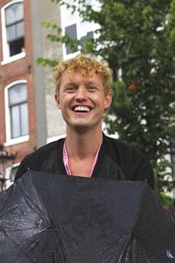 Sunshine after the rain: Sebas - Projektleiter bei Amsterdam Marketing - konnte seine Frisur retten - Quelle: Kit