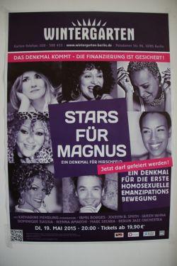 """Plakat f�r die Gala """"Stars f�r Magnus"""" am 19. Mai im Berliner Wintergarten Variet� - Quelle: LSVD Berlin-Brandenburg"""