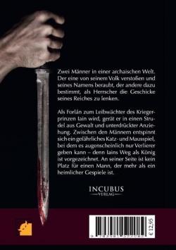 Der Roman von hinten: Blutiger Dolch in Männerhand