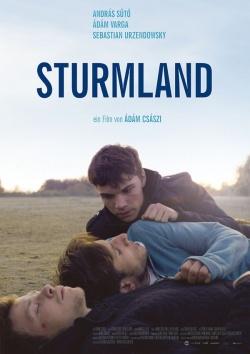 """Poster zum Film: """"Sturmland"""" lief in den vergangenen Wochen auf der """"Gay Filmnacht"""" in verschiedenen Städten und startet am 27. November offiziell im Kino"""