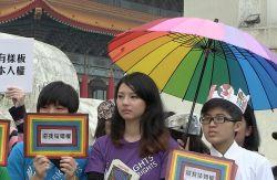 """""""Gib mir mein Recht auf die Ehe"""": LGBT-Aktivisten auf dem Freiheitsplatz in Taipeh - Quelle: Martin Aldrovandi"""