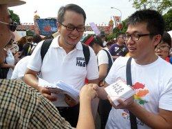 Wollen vor Gericht ihr Eherecht erstreiten: Chen Jing-hsueh und Gao Jhih-wei - Quelle: Martin Aldrovandi