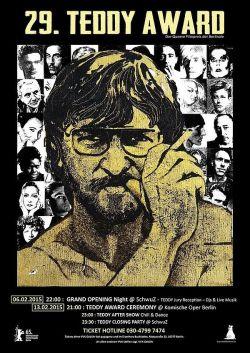Rainer Werner Fassbinder, der in diesem Jahr 70 Jahre geworden w�re, schm�ckt das Plakat des diesj�hrigen Teddy Award
