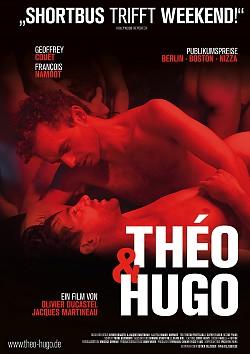 """Poster zum Film: """"Théo & Hugo"""" läuft ab 11. Oktober in der queerfilmnacht der Edition Salzgeber. Regulärer Kinostart ist der 20. Oktober"""