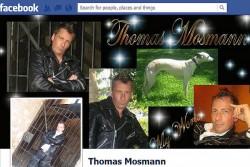 Auf Facebook pr�sentiert sich Parteichef Thomas Mosmann in Leder und mit Hund