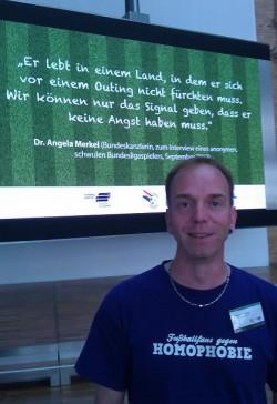 Fordert die Einbeziehung der Fans: Thorsten Siebert vom Verein Fußballfans gegen Homophobie