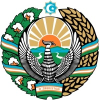 Das Wappen von Usbekistan