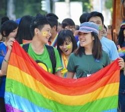 Vietnamesische Lesben und Schwule erobern seit 2012 auch die Stra�en: Pride-Kundgebung in der Wirtschaftsmetropole Ho-Chi-Minh-Stadt
