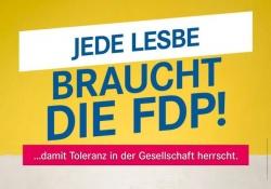 Wahlplakat der FDP in Brandenburg: Viele Lesben sahen das offensichtlich anders