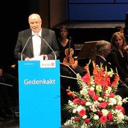 H�lt die bewegendste Rede des Gedenkakts: Prof. Dr. Volkhard Knigge, Direktor der Stiftung Gedenkst�tten Buchenwald und Mittelbau-Dora