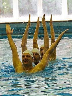 Der Wettbewerb f�rs Auge: Synchronschwimmen - Quelle: Word Outgames 2013