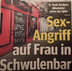 """Schlagzeile der Hamburger """"Morgenpost"""""""