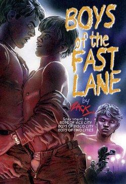 """Englischsprachiger Roman mit erotischen Cartoons: """"Boys Of The Fast Lane"""""""