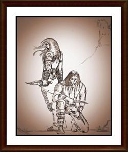 Entwurf des Autors: So skizzierte Raik Thorstad seine Protagonisten Sothorn und Geryim