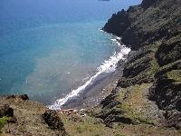 Etwas steinig, aber bei den einheimischen Schwulen beliebt: Strand von Gaviotas