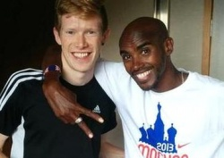 Tom Bosworth mit Doppelolympiasieger Mo Farah, der besonders cool auf dessen Coming-out reagiert habe