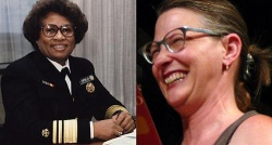 Joycelyn Elders (re.) sprach sich 1994 f�r die Onanie aus und verlor ihren Job, was Sexologin Carol Queen (li.) auf die Palme brachte - Quelle: National Institutes of Health (PD-USGov) / Wiki: Charles Haynes, CC-BY-SA-2.0