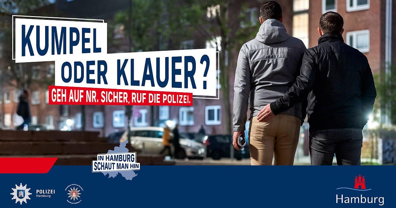 """Kritik an """"homophober"""" Kampagne der Hamburger Polizei"""