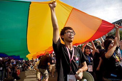 Walk With Pride Foto: CSD in Taipeh von Charles Meachem